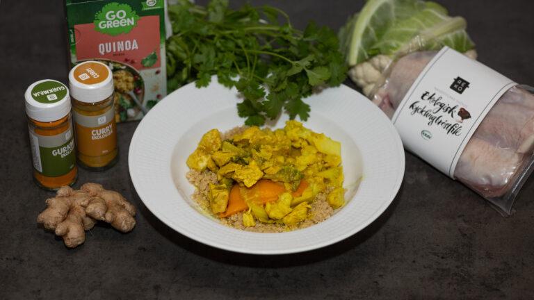Kyckling och blomkål med curry