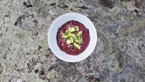 Avokadoyoghurt med blåbär